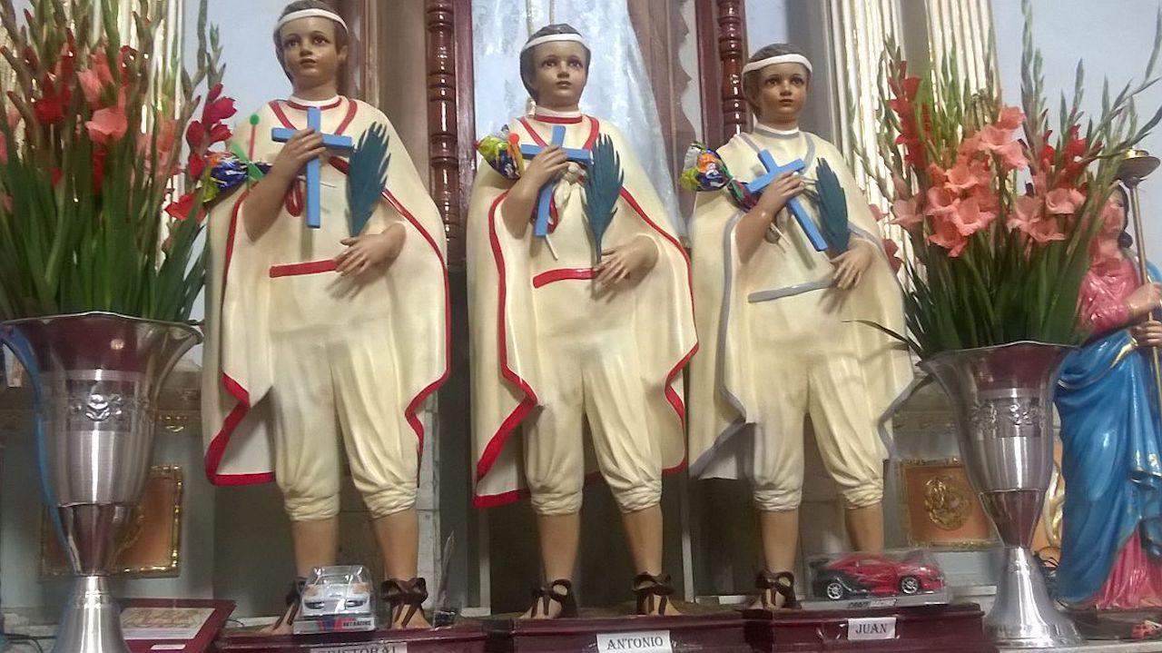 Los santos Niños Mártires de Tlaxcala.