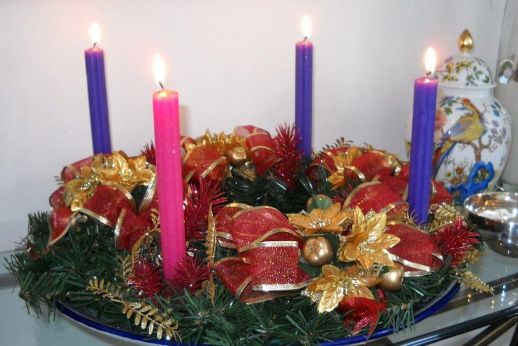 La Corona de Adviento nos prepara para la Navidad.