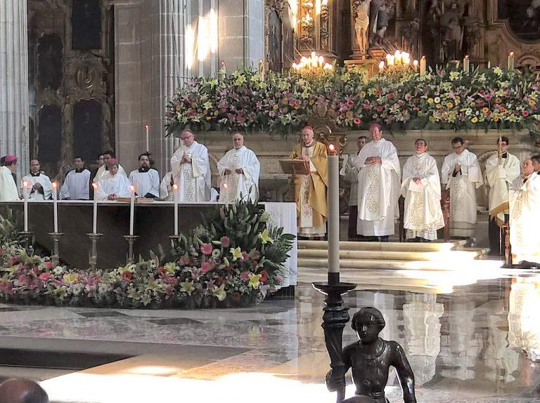 Misa Crismal de 2019 en la Arquidiócesis Primada de México.