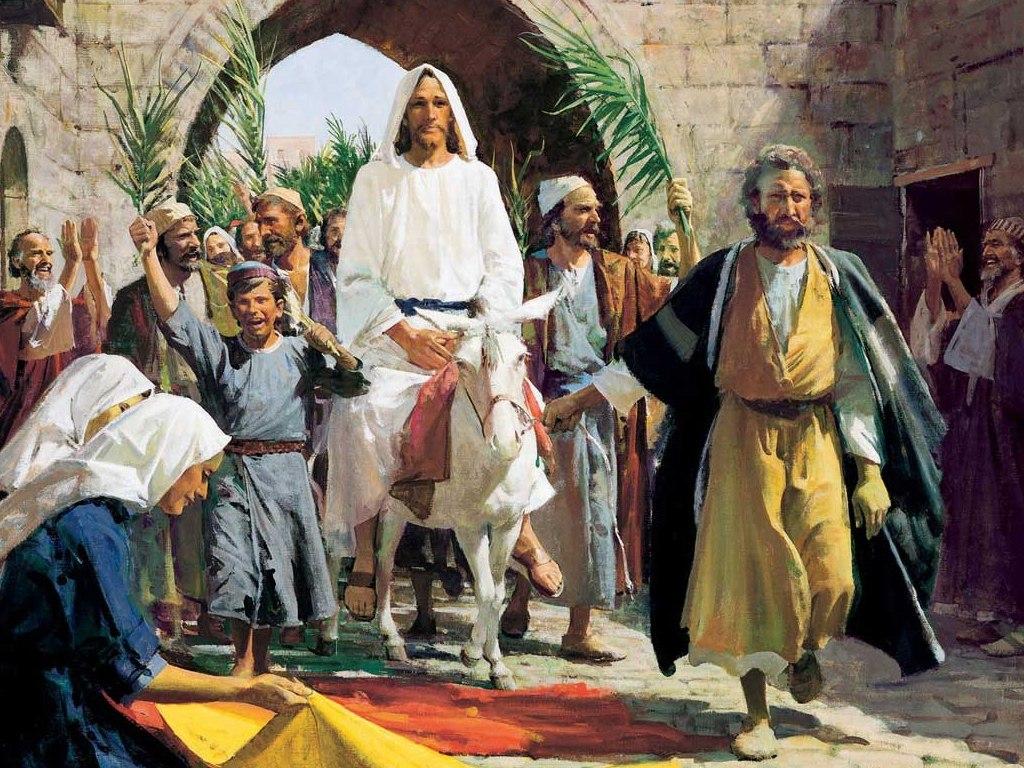 Entrada de Jesús a Jerusalén el domingo de Ramos, fecha que marca el inicio de la Semana Santa.