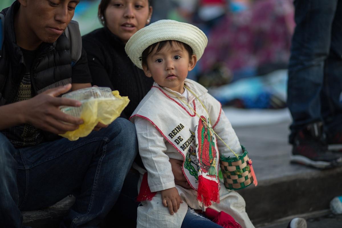 En la fiesta de Corpus Christi es común encontrar a niños vestidos de indígenas. Foto: María Langarica