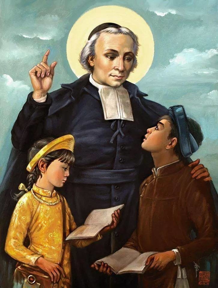 San Juan Bautista de la Salle, patrono de los maestros.