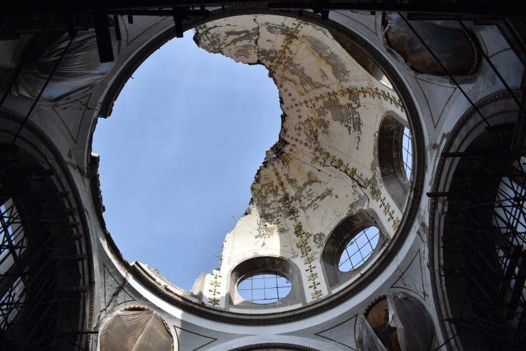 restauración, iglesias dañadas, iglesia de nuestra señora de los dolores