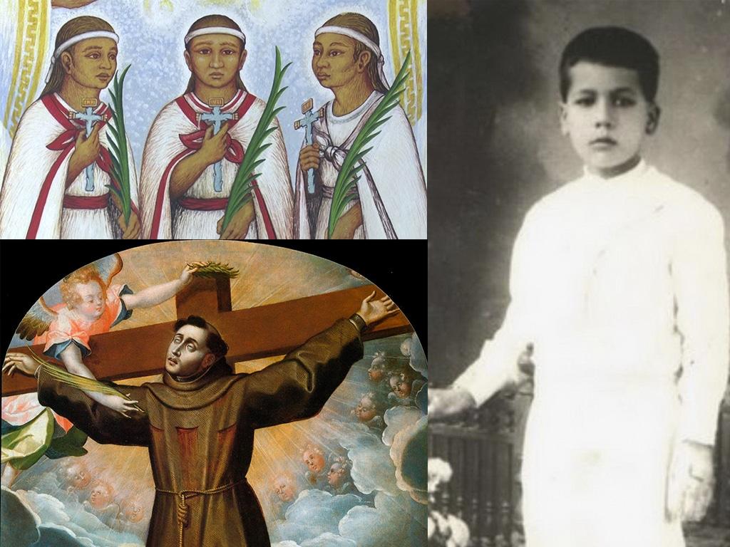 Niños y jóvenes santos