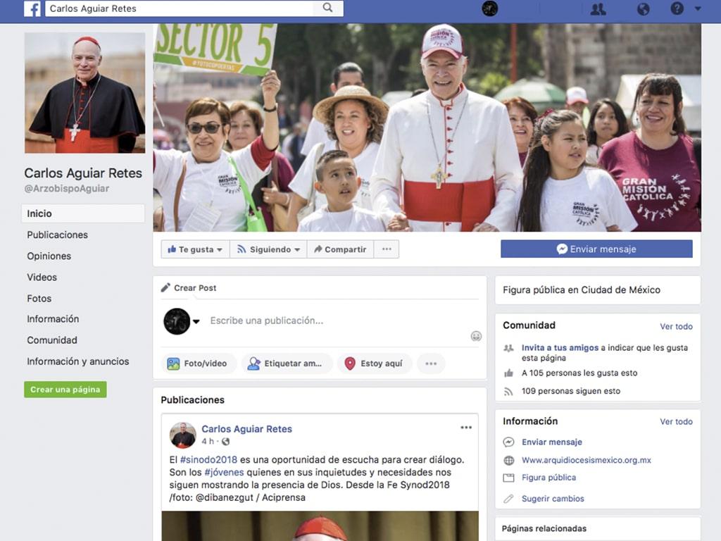 El Arzobispo en redes: El Card. Aguiar abre Facebook