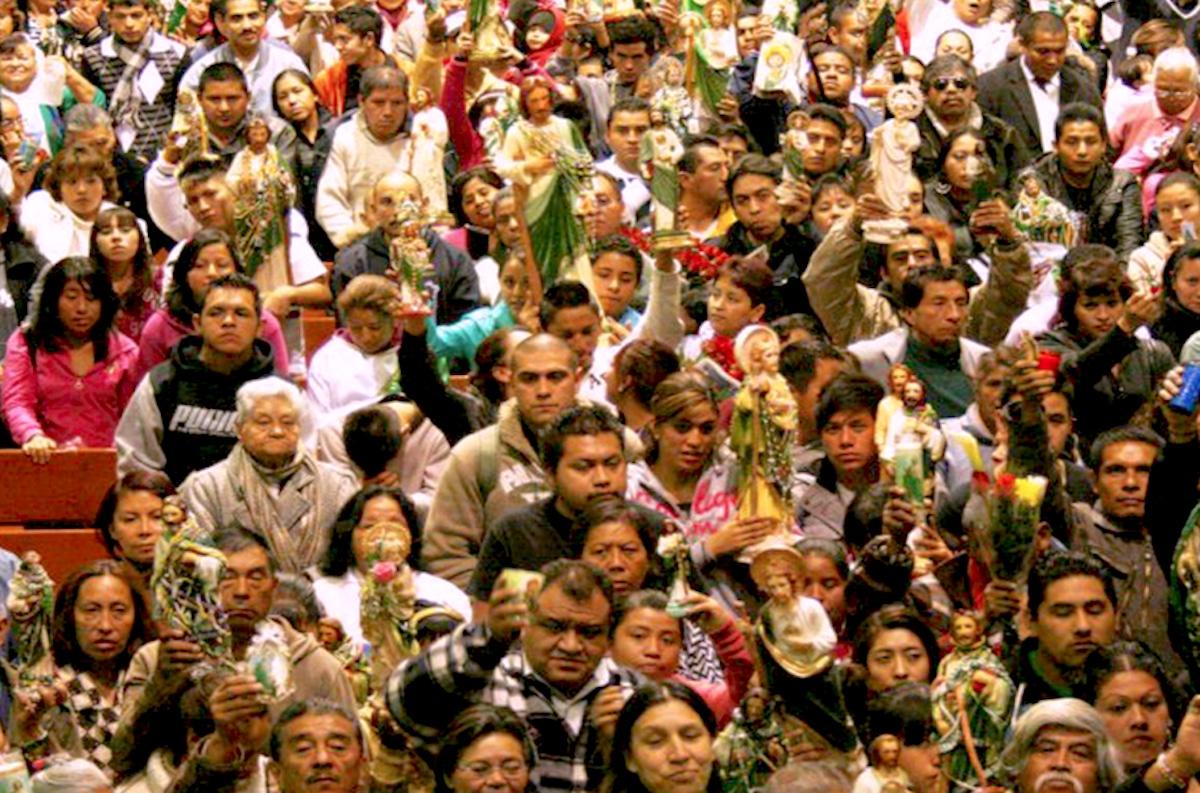 Fiesta de San Judas Tadeo en la parroquia de Politécnico.