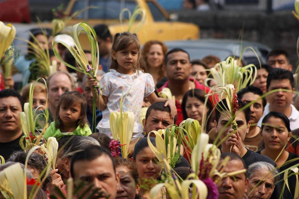 Las palmas de Semana Santa deben ser desechadas como otros objetos benditos.