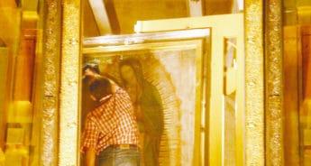El camarín de la Virgen de Guadalupe fue creado como espacio de seguridad.