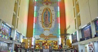 En la colonia Romero Rubio se halla el magno mural de la Virgen de Guadalupe.