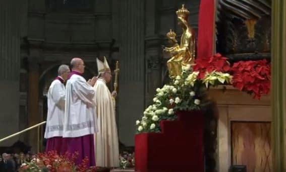 El Papa Francisco durante el Te Deum de 2019. Foto: Vatican Media.