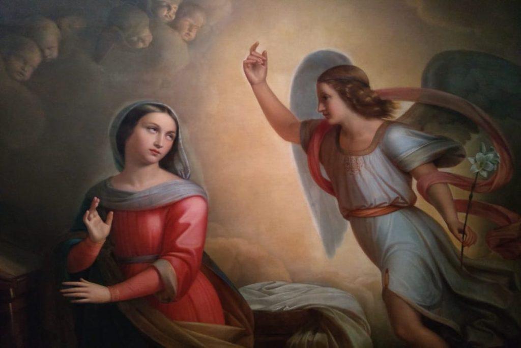 La Anunciación, obra de Don Juan Cordero.