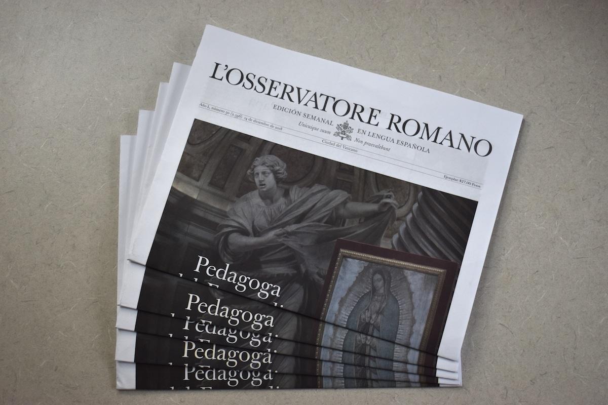 El Observatorio Romano es el medio del Vaticano.