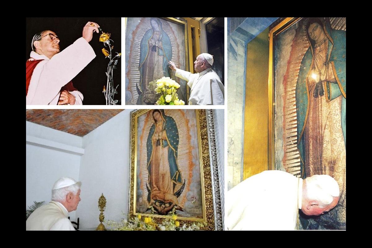 Los últimos cuatro Papas han tenido un amor especial a la Virgen de Guadalupe.