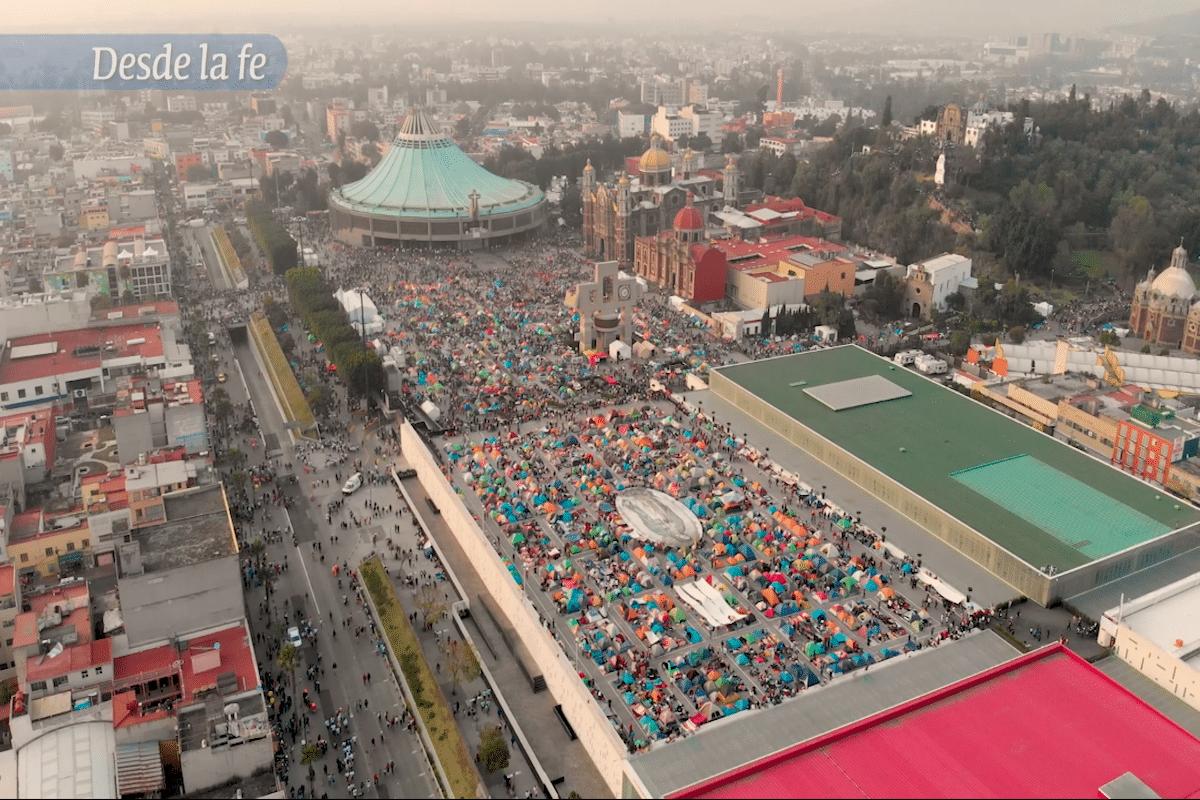 La cifra de peregrinos que han visitado la Basílica de Guadalupe es de 7 millones 598 mil peregrinos.