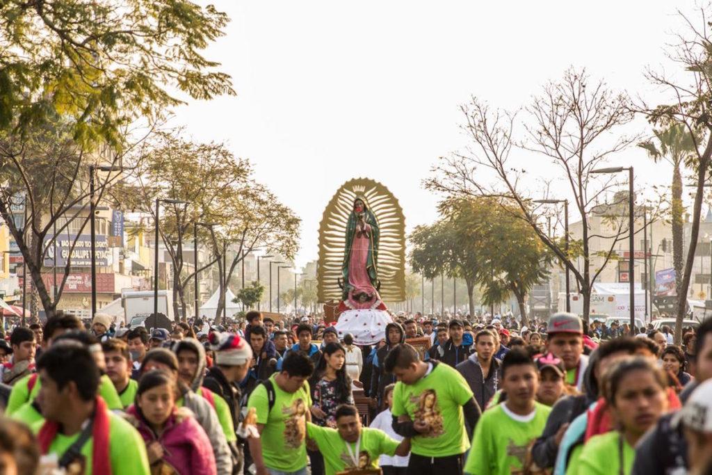 La celebración a la Virgen de Guadalupe el 12 de diciembre. Foto: María Langarica