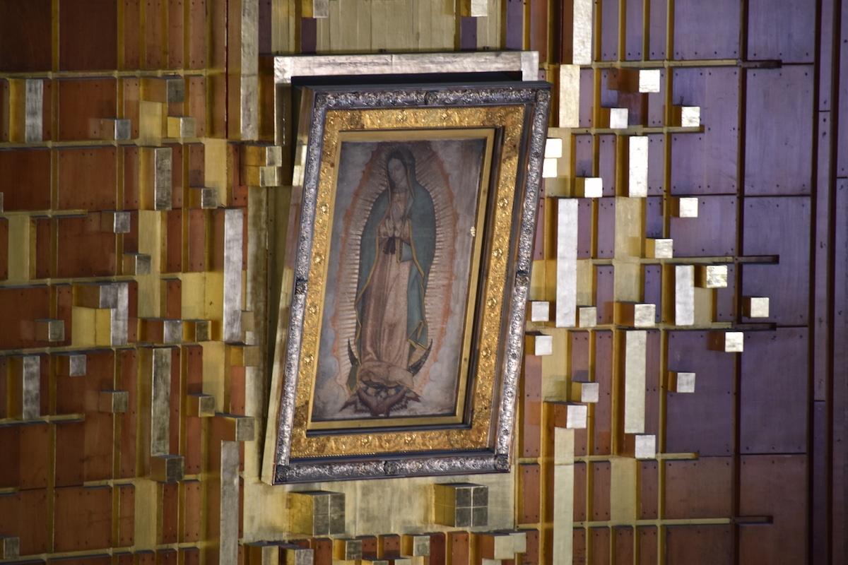 La imagen de la Virgen de Guadalupe. Foto: Ricardo Sánchez