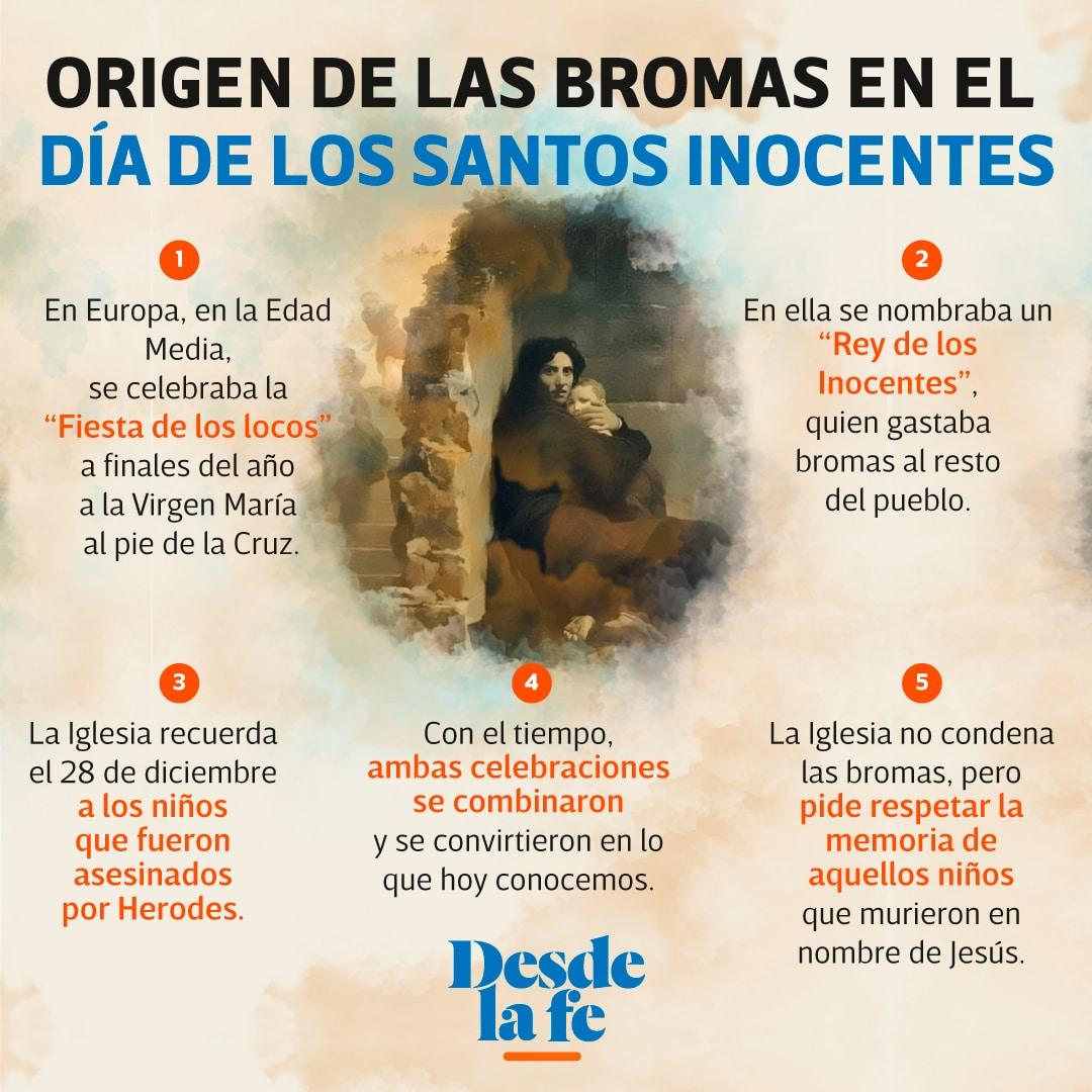 La Iglesia católica celebra a los Santos Inocentes el 28 de diciembre.