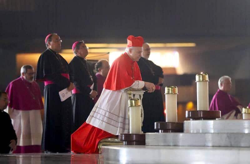 El Cardenal Carlos Aguiar Retes en la Peregrinación de la Arquidiócesis de México 2019. Foto: María Langarica