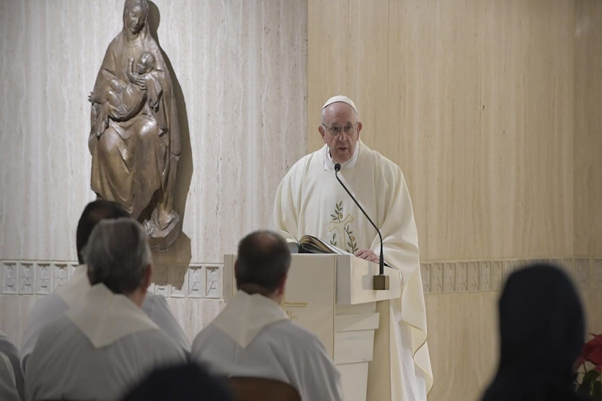 Papa Francisco pide en su homilía seguir los pasos de San Juan Bosco. Vatican Media.