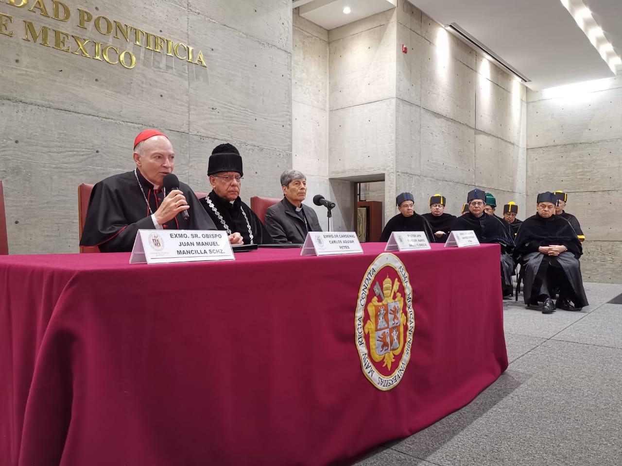 El Cardenal Aguiar aseguró que la responsabilidad de responder a los desafíos de México es de todos. Foto: Javier Rodríguez