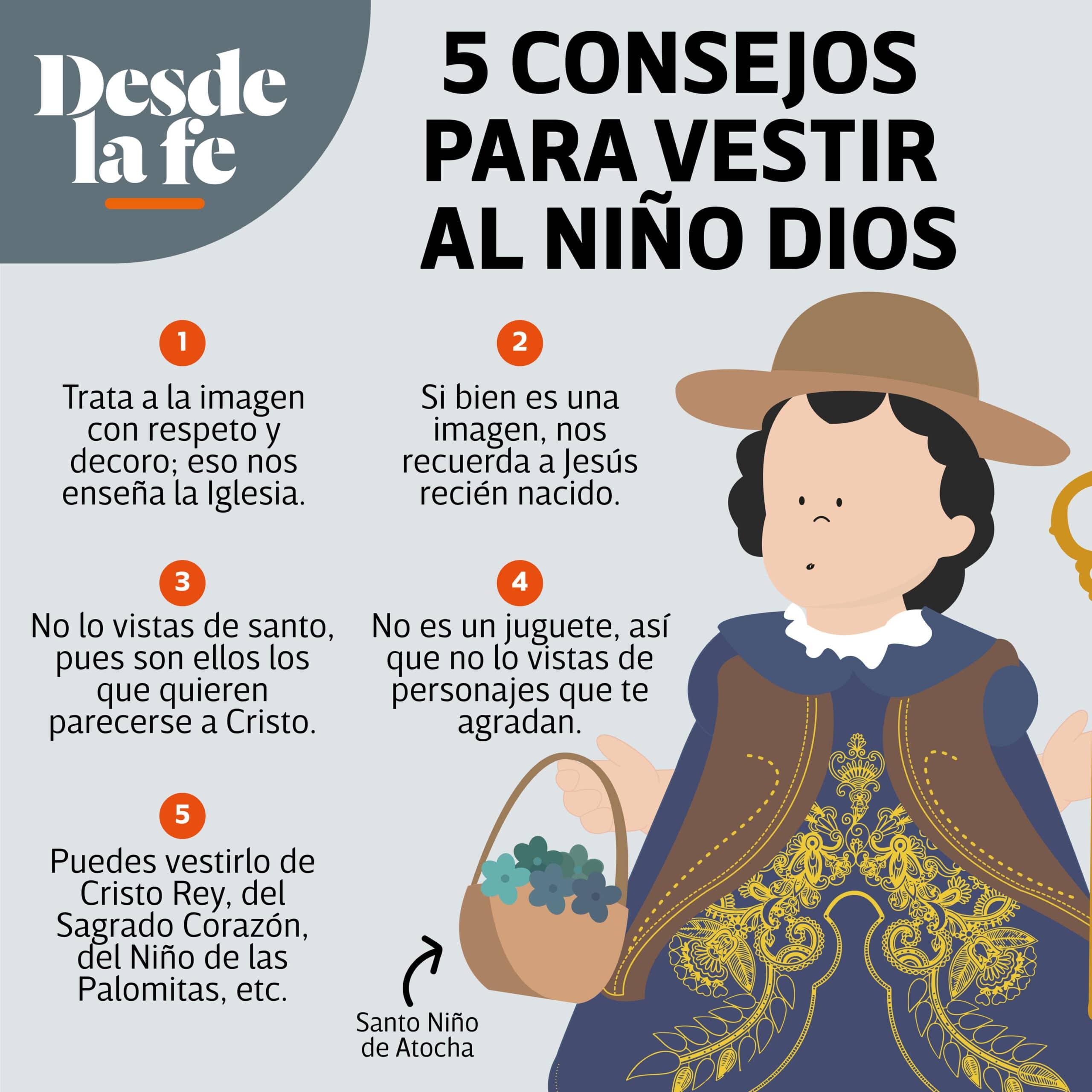 Toma en cuenta estos consejos para vestir al Niño Dios el Día de la Candelaria.