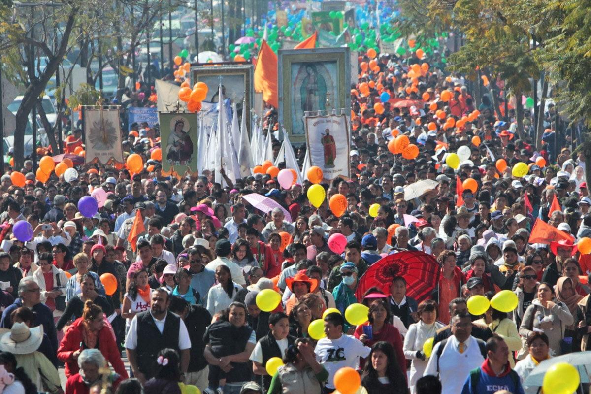 La peregrinación de la Arquidiócesis de México abre paso a las demás peregrinaciones diocesanas que se realizan durante el año.
