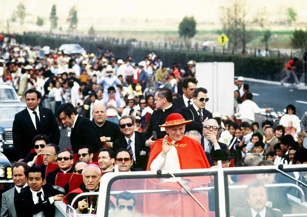 Juan Pablo II realizó cinco visitas a México. Foto: AFP/Getty Images