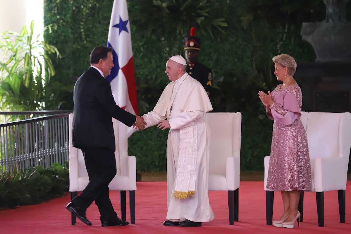 """El Papa Francisco dijo que los jóvenes reclaman un compromiso para construir """"una política humana"""". Foto: Lazaro Gutierrez/JMJ"""
