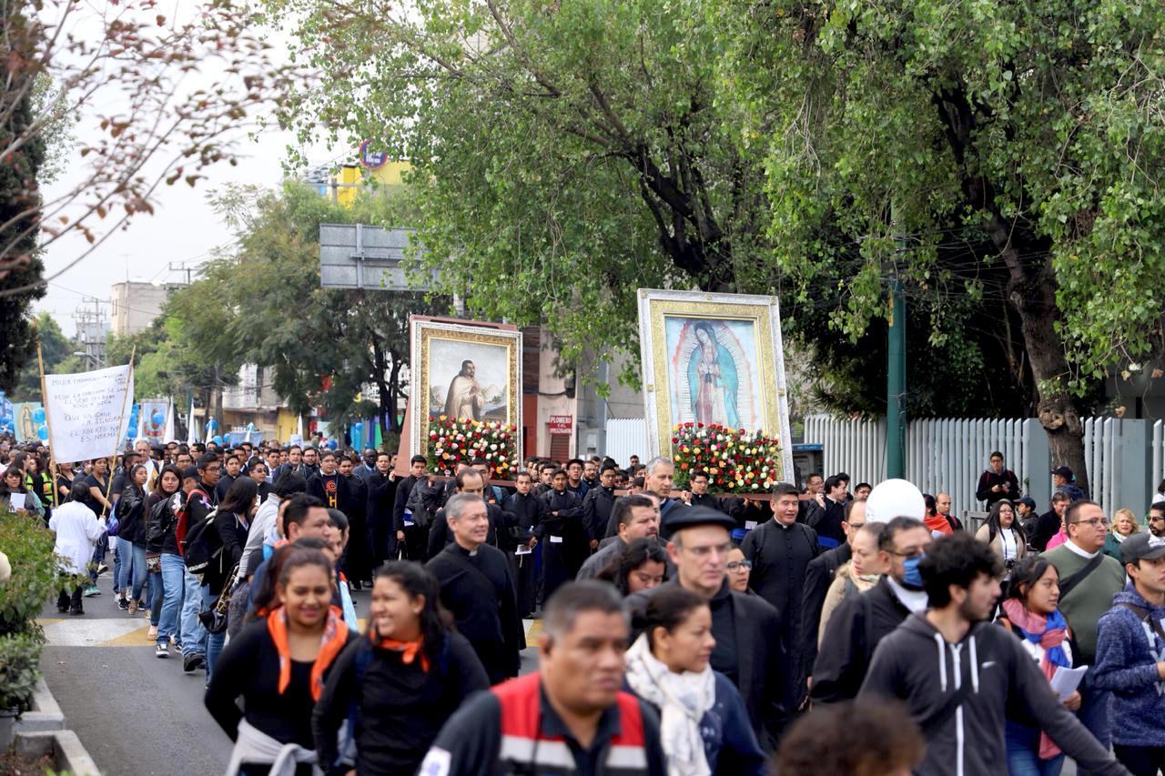 La peregrinación de la Arquidiócesis de México abre paso a las demás peregrinaciones diocesanas que se realizan durante el año. Foto: María Langarica