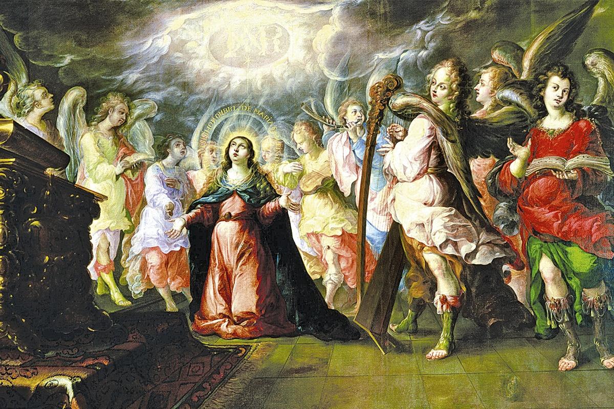 """""""El dulcísimo nombre de María"""" es una de las obras más famosas de Cristóbal de Villalpando."""