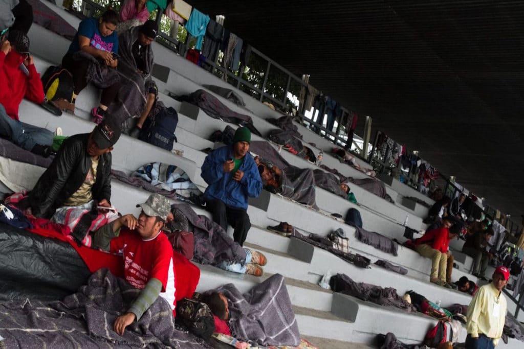 """El Estadio Jesús Martínez """"Palillo"""" ha sido refugio de cientos de migrantes. Foto: Cuartoscuro"""