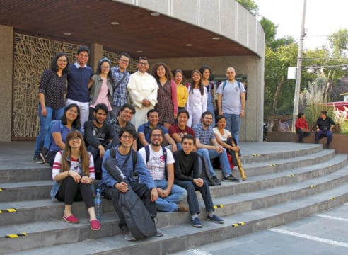 Esta es la capilla donde se reúnen los jóvenes de la UNAM