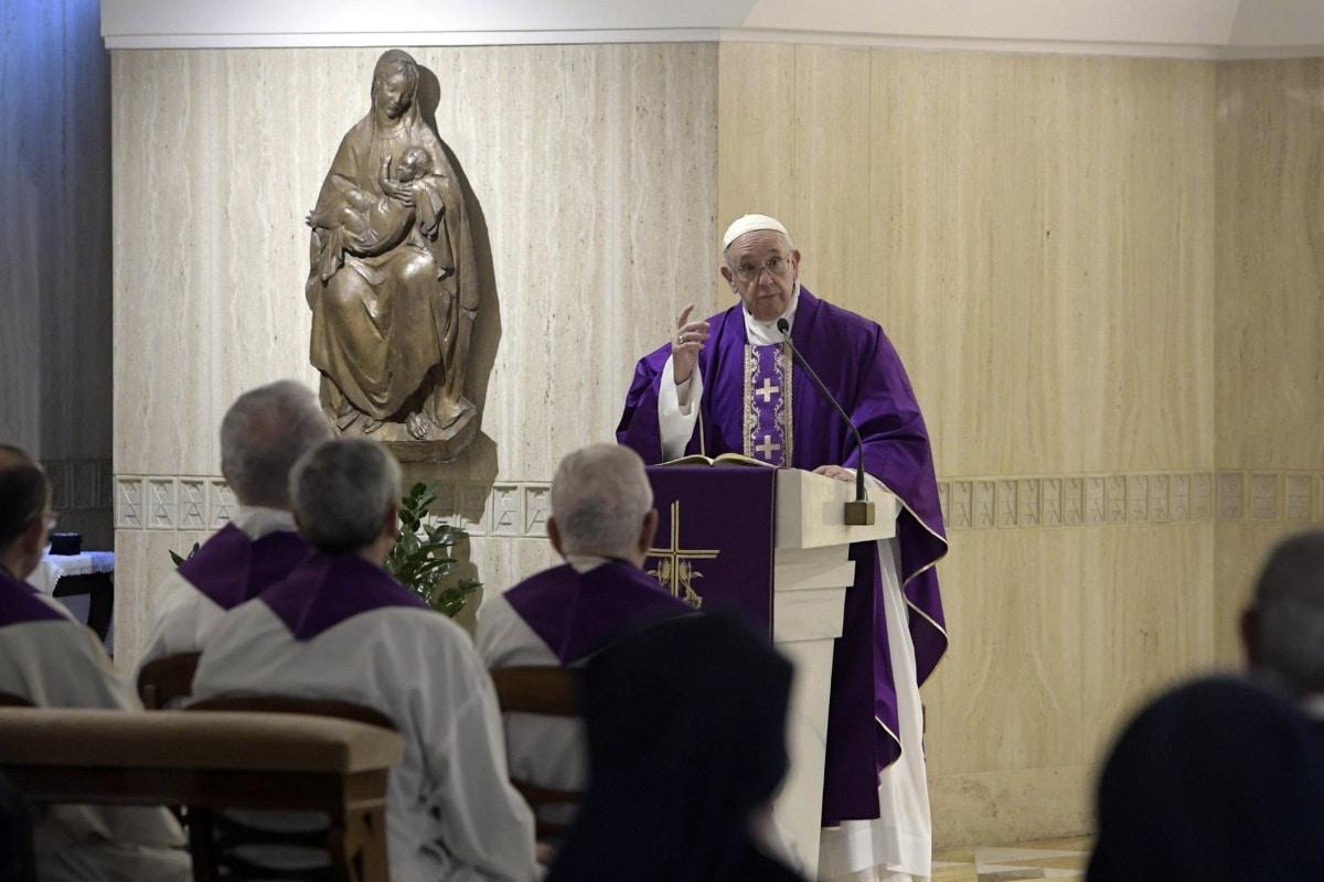 El Papa Francisco en su homilía matutina en Santa Martha. Vatican Media