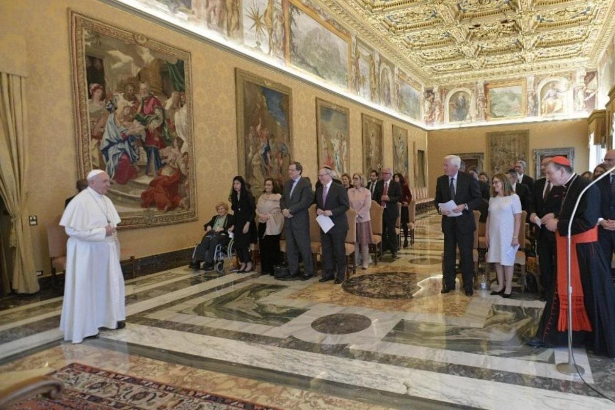 La paz es mujer: Papa al Comité Judío. Foto: Vatican Media