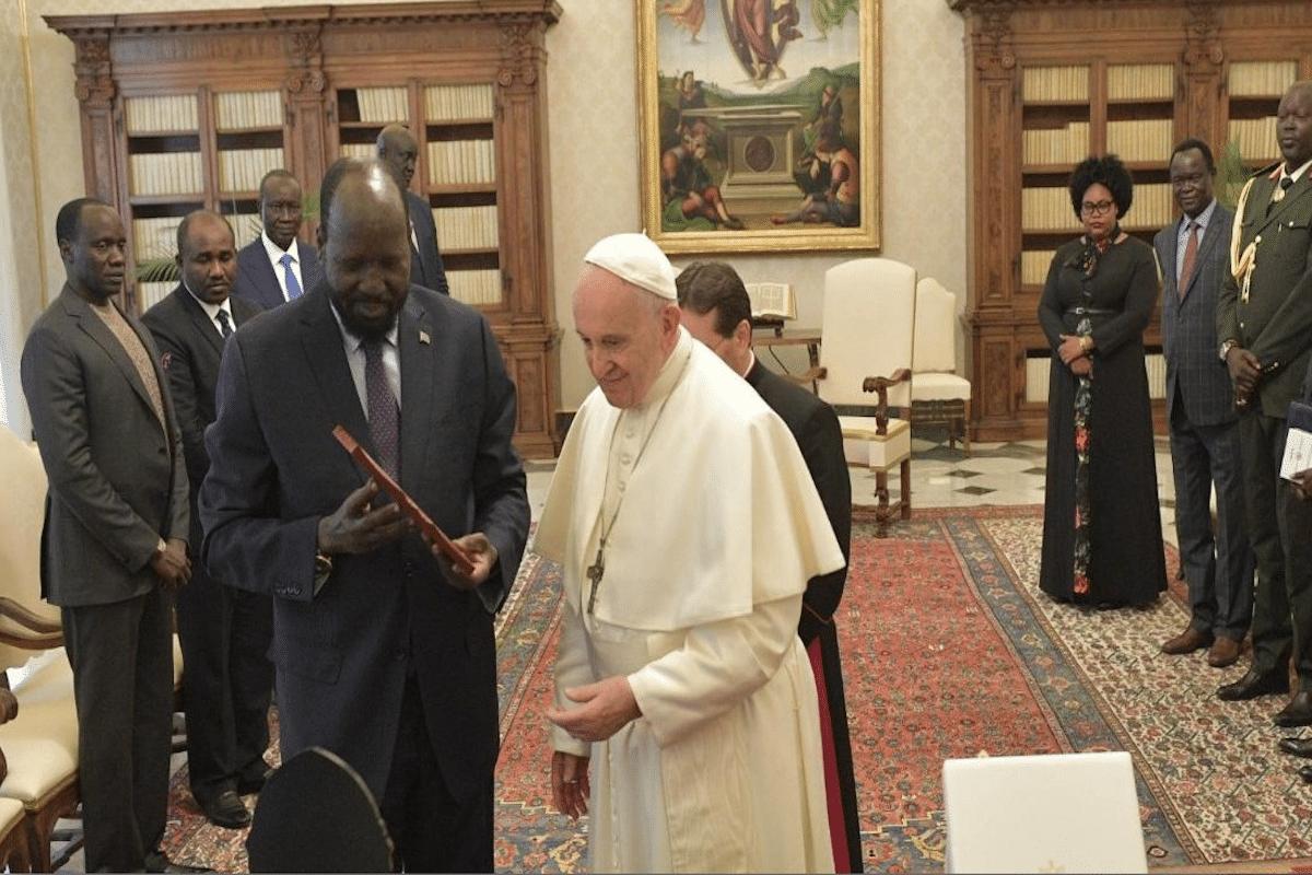 Papa Francisco planea visitar Sudán. Vatican Media
