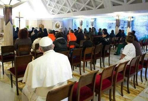El Papa Francisco en la capilla de Santa Marta