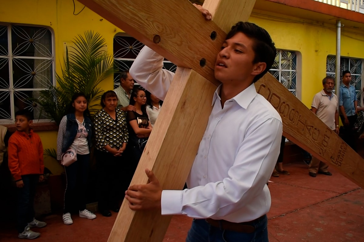 El Viacrucis en Iztapalapa se realizará hasta finales de abril. Foto: Ricardo Sánchez