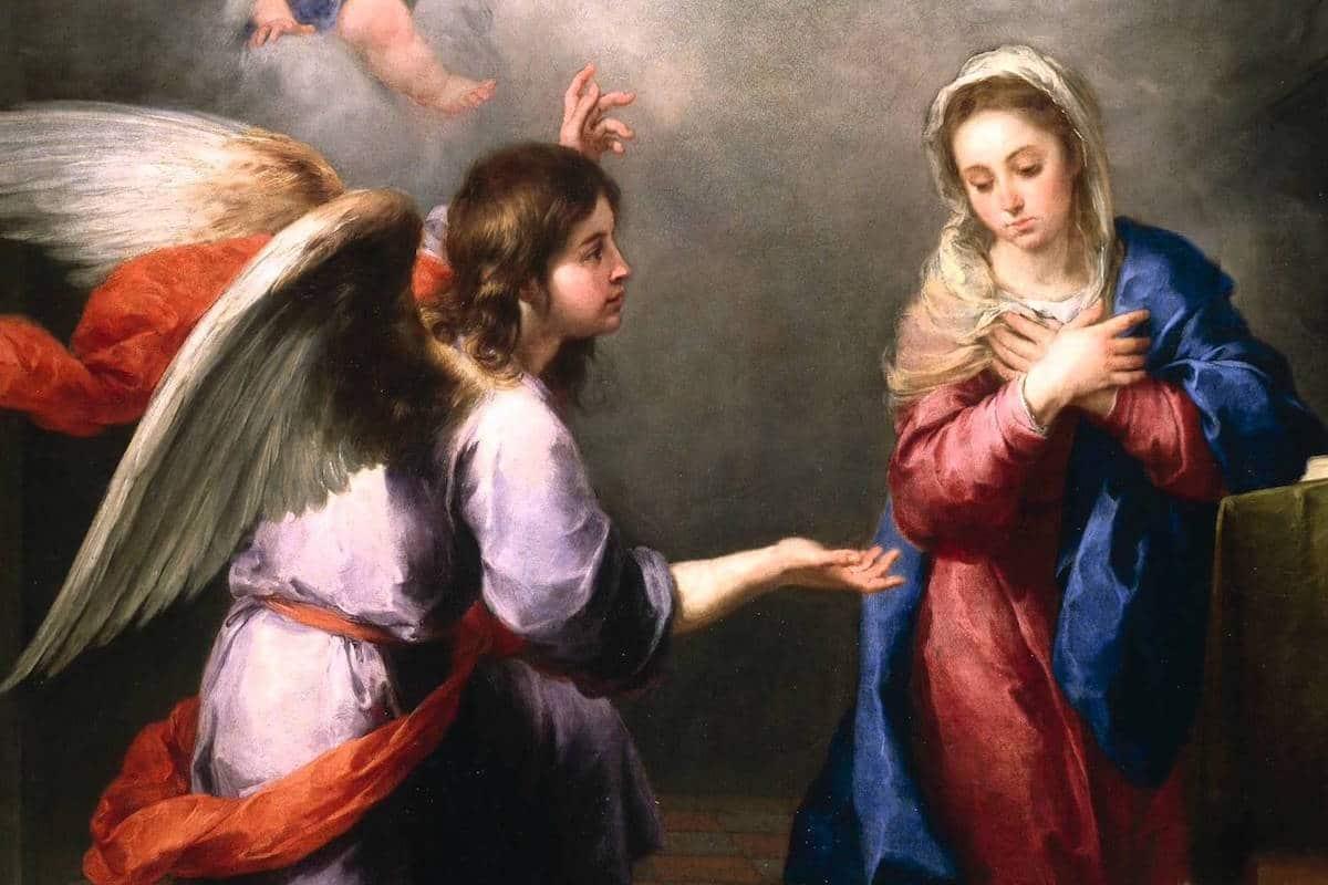 En la Anunciación del Señor, el Arcángel Gabriel se la apareció a María para anunciarle que Ella había hallado gracia delante de Dios y que daría a luz un Hijo. Foto: CEM