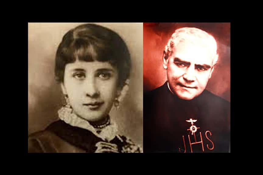Concepción Cabrera y el Padre Félix Rougier Olanier.