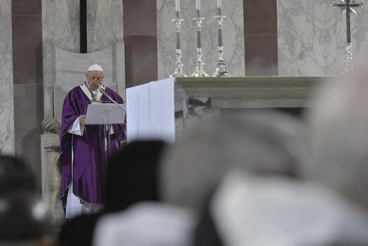 El Papa Francisco durante la Misa de Cuaresma 2019. Foto: Vatican Media