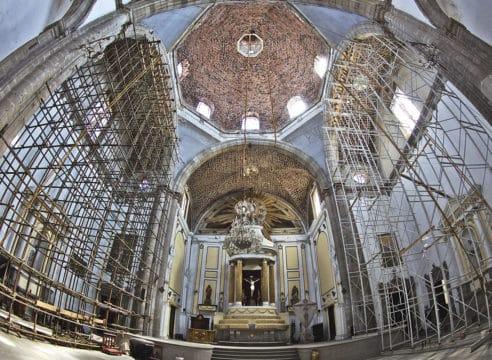 El sismo no calló la música en la Parroquia de Santa Catarina