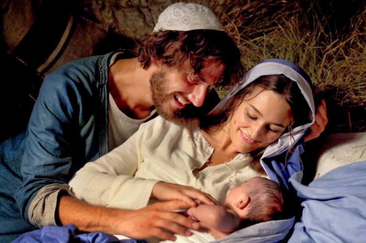 La Sagrada Familia: Jesús, María y san José.