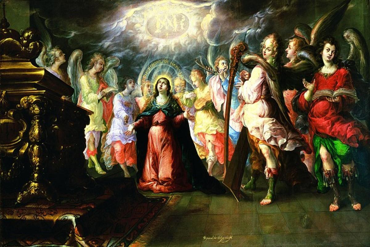 'El Dulce nombre de María' es una de las obras más reconocidas del pintor barroco Cristóbal de Villalpando.