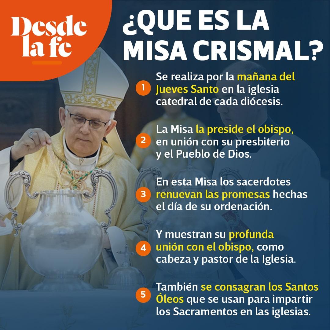 La Misa Crismal.