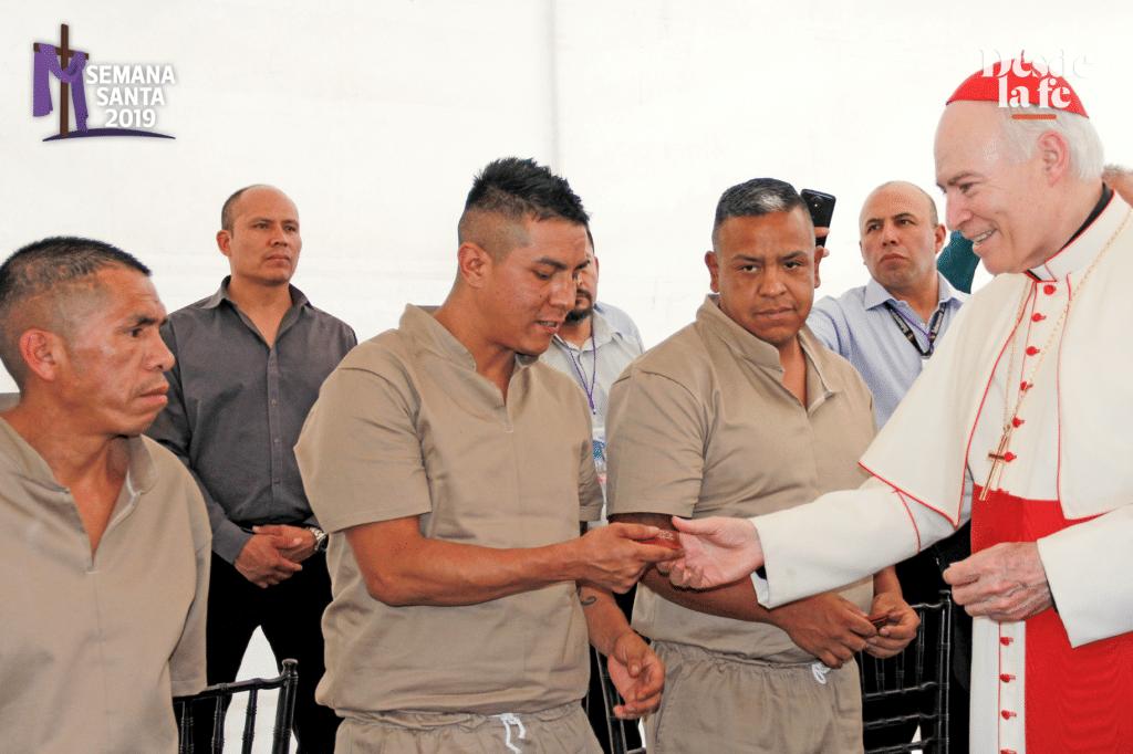 Los presos que asistieron a la Misa de la Cena del Señor. Foto Alejandro García