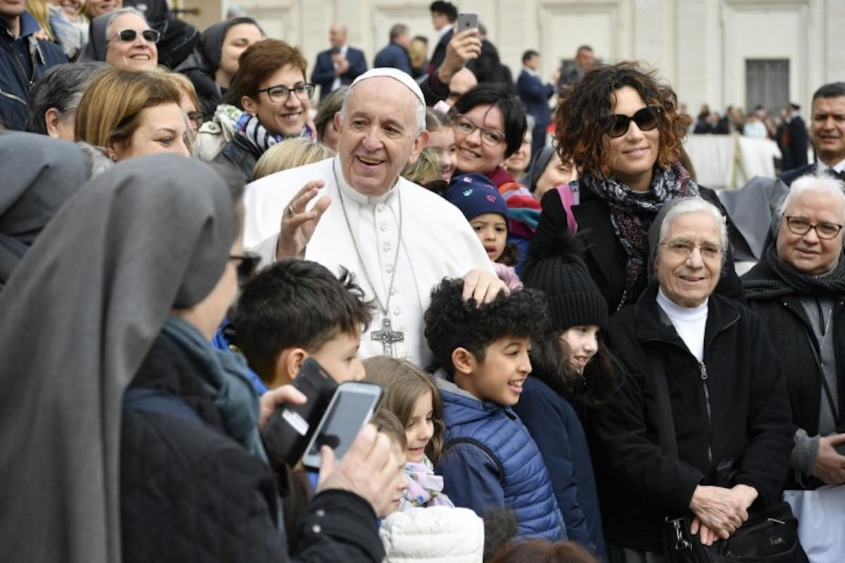 El Papa en la Audiencia General. Foto: Vatican Media