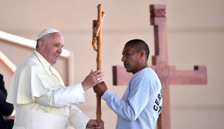 Papa visita penal de Topo Chico, Ciudad Juárez. Foto Perú21