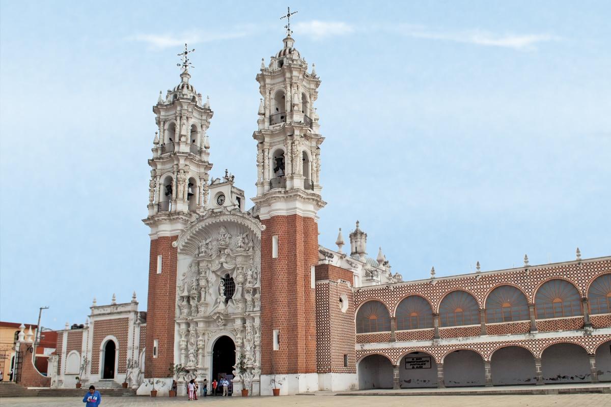 La Basílica de la Virgen de Ocotlán, en Tlaxcala.