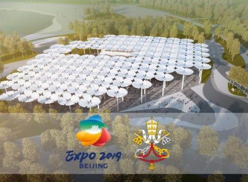 Este es el pabellón de la Santa Sede en la Expo Beijing 2019