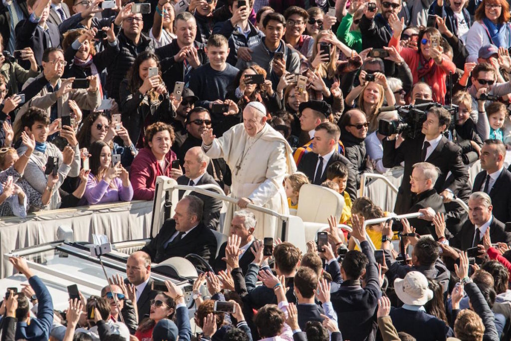 EL Papa Francisco una de las 100 personas más influyentes del mundo. Audiencia General, 17 De Abril 2019 © Zenit/María Langarica